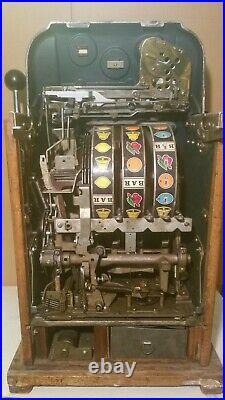 Antique Mills 10 Cent Coin Op Jackpot Bell Slot Machine Special Award