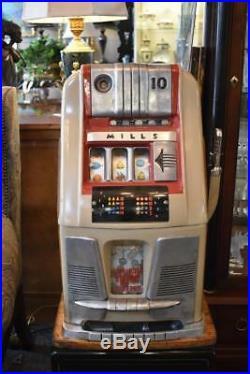 Antique Mills 10 Cent Slot Machine Circa 1950's