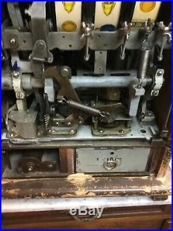 Antique Mills 1930s Diamond Front Slot Machine Original Working