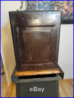 Antique Mills 1932 Skyscraper 5 Cent Slot Machine And Metal Stand