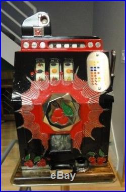 Antique Mills 1937 5 Cent Bursting Cherry Slot Machine