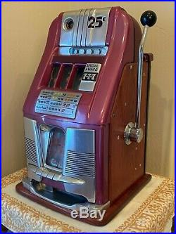 Antique Mills 25 Cent Special Award 777 1940s Slot Machine Rare