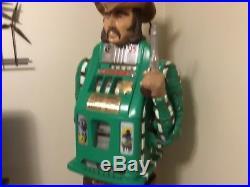 Antique Mills 25 cents One Arm, SHERIFF figure Statue Slot Machine