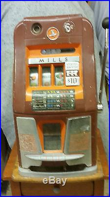 Antique Mills 5 Cent 777 High Top Slot Machine with Payout