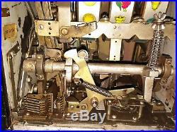 Antique Mills Bell 5 Cent Nickel Slot Machine Excellent Condition Works! 40's