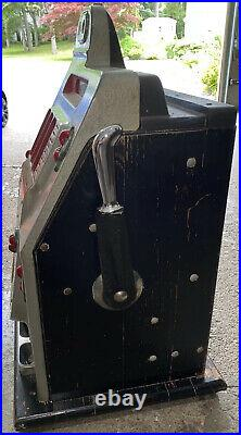 Antique Mills Black Cherry 10 Cent Slot Machine Must See