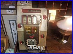 Antique Mills Black Cherry Slot Machine 10 cent ORIGINAL CONDITION
