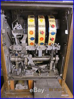 Antique Mills Bursting Cherry 25c Slot Machine Nice Original Condition
