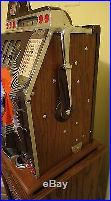 Antique Mills Bursting Cherry 25c Slot Machine Works Perfectly