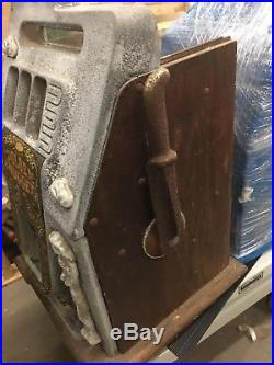 Antique Mills Golden Nugget Slot Machine Casting Case With Parts