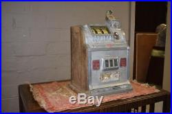Antique Mills Liberty Bell 25 Cent Slot Machine