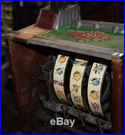 Antique Mills Liberty Bell 5 Cent Mint & Jackpot Front Vendor Slot Machine