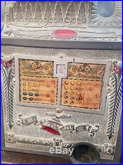 Antique Mills Liberty Bell 5 Cent Slot Machine