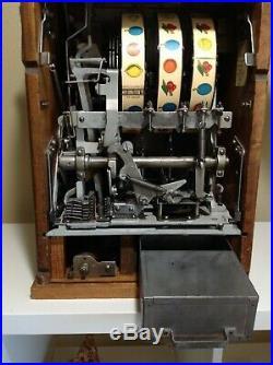 Antique Mills Novelty Co Extraordinary 1930's SLOT MACHINE Art Deco Chicago rare