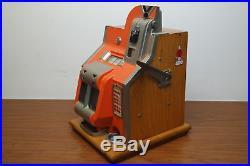 Antique Mills Novelty Co Nickel Slot Machine QT Chevron 5¢ WORKING