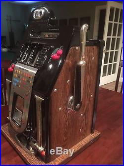 Antique Mills Penny Black Cherry Slot Machine Completely Reconditioned