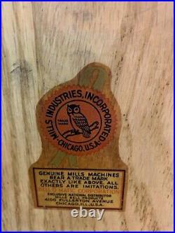 Antique Mills Slot Machine 25-cent 777 CHROME Hi-Top Special Reward 1949, Works
