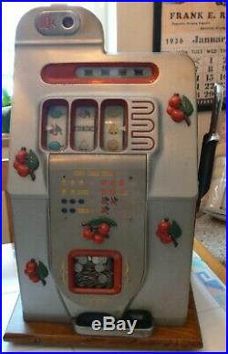 Antique Mills Slot Machine Black Cherry Beautiful Original