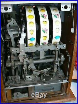 Antique Mills Slot Machine Black Cherry Beautiful Original