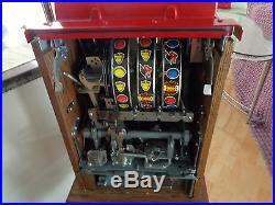 Antique Mills Slot Machine Golden Nugget Lucky Lady Gold 25 Cent