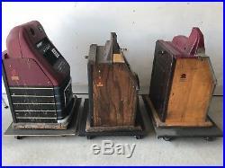 Antique Mills Slot Machine LOOK 3 Nice Originals, Bursting Cherry Jewel Bell