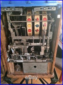 Antique OD JENNINGS SILVER MOON Slot Machine