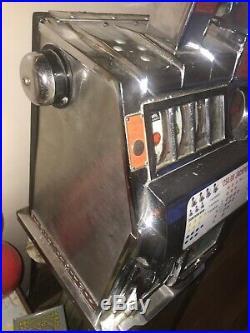 Antique PACE Slot Machine Harrahs Vintage Nickel WORKING