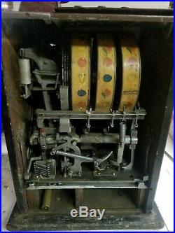 Antique Pace Comet Coin Op Slot Machine 1 Franc Works With Quarters