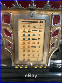 Antique Pace Mfg Comet 5 cent slot machine in good working condition