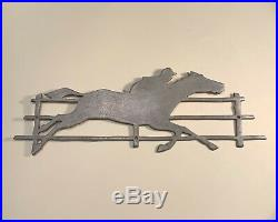 Antique Paces Races Horse Race Coin Op Machine Pace MFG Side Panel Marquee