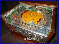 Antique Rockola Official Sweepstakes Horseracing Roulette Trade Stimulator