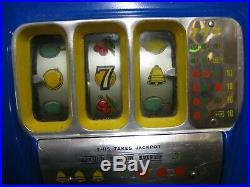 Antique Slot Machine 25 Cent Buckley Recently Restored