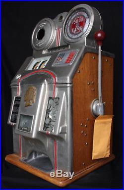 Antique Slot Machine 5¢ O. D. Jennings Rare 1939 Bank Chief Slot Machine