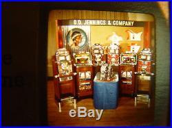 Antique Slot Machine Jennings Glass Slide Sales Kit 1940's