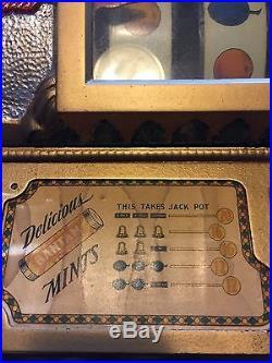Antique Slot Machine Mills FOK MINT VENDOR 1928 all original except mints