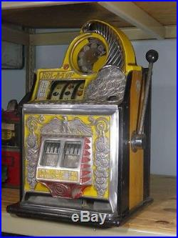 Antique Slot Machine Watling Coin Front Rol-A-Top with Eagle Motif