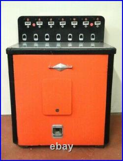 Antique Table Slot Machine Ready for Restoration w Orange Cabinet Winter Horse