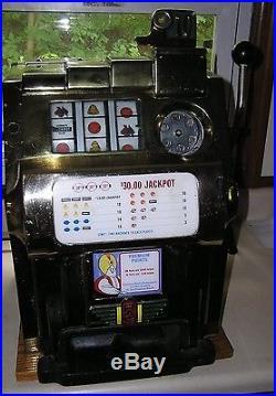 Antique, Vintage, 10 Cent Pace Slot Machine, Harrahs Casino