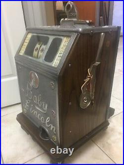 Antique Vintage 25 Cent Lincoln Watling Slot Machine 1931 Rare, Free Shipping