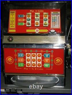 Antique Vintage Bally's Slot Machine' (low Boy Mgm Casino) Beautiful Shape