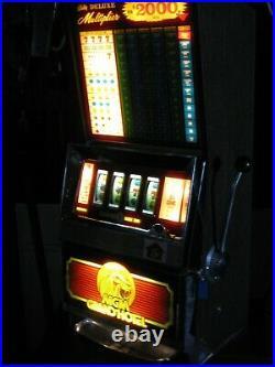 Antique Vintage Bally's Slot Machine' (mgm Grand' Model 1008) Great Shape