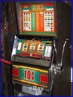 Antique Vintage Bally's Slot Machine' (model 1090) Clean And In Nice Shape