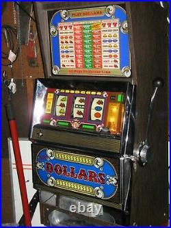 Antique Vintage Bally's Slot Machine' (model 1096 Dollar) Clean' Nice Shape