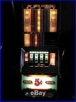 Antique Vintage Bally's Slot Machine' (model 891) Clean And In Nice Shape