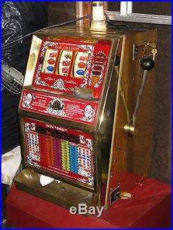 Antique Vintage Jennings Slot Machine J 400 Needs Work