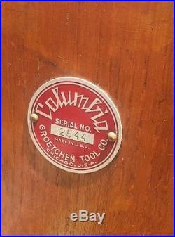 Antique Vtg Gretchen Tool Columbia Slot Machine Nice Original 10 Cent