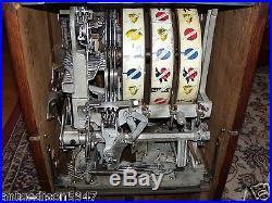 Antique WATLING GOOSENECK 1 CENT BLUE SEAL TWIN JACKPOT SLOT MACHINE