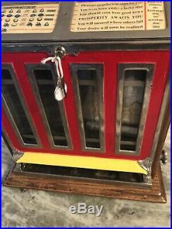 Antique Watling 5c Cent Mint Vendor Nickel Slot Machine Working