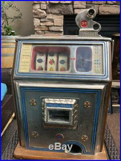 Antique Watling Blue Seal 5 Cent Slot Machine With Keys