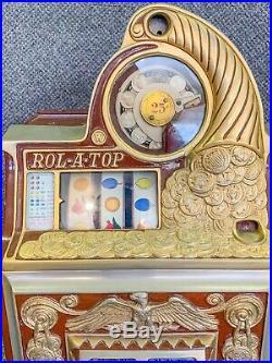 Antique Watling Rol-A-Top 25c Cent Slot Machine Working Excellent Condition